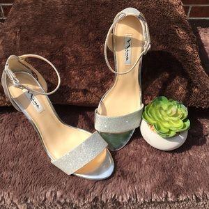 Nina New York silver glitter high heel shoes 8.5M